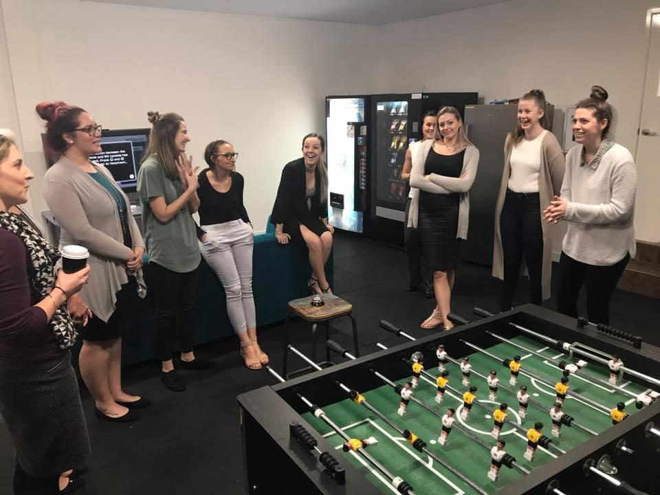 HTG Service team in games room